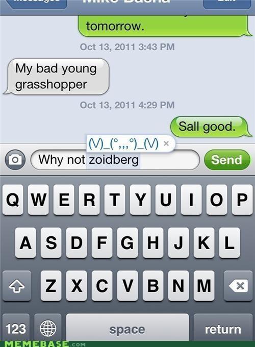 autocorrect emoticon grasshopper Zoidberg - 5323408128