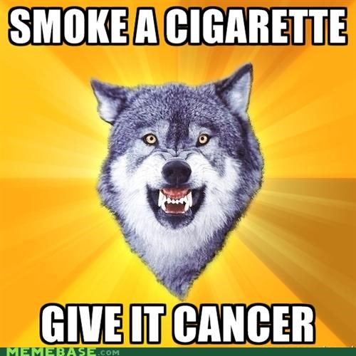 breaking bad,cancer,cigarettes,Courage Wolf,lung,smoke,television