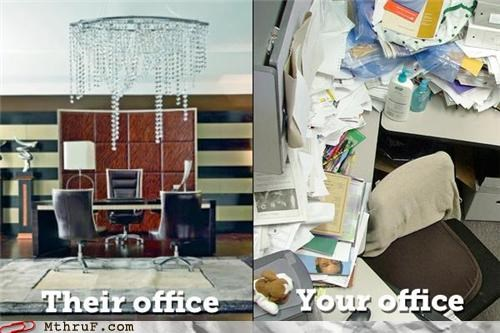 clutter comparison design Office work sucks
