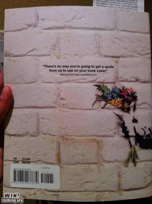 banksy,book,cover,graffiti,police,quote,Street Art