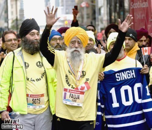 BAMF completely relevant news elderly marathon old people rock running