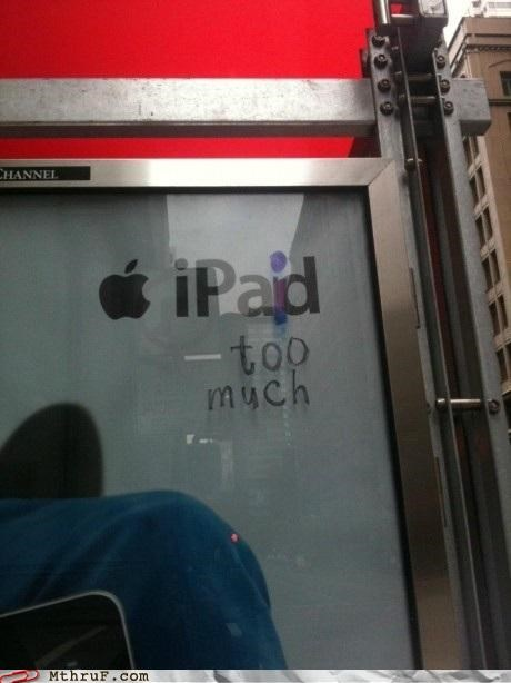 advertisement,apple,graffiti,hacked,ipad,ipod,modified