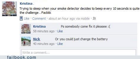 facepalm lazy smoke detector stupid - 5323610368