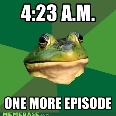 animemes,episode,foul bachelor frog,late,morning,season,sleep