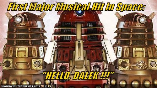daleks hello dolly musical space