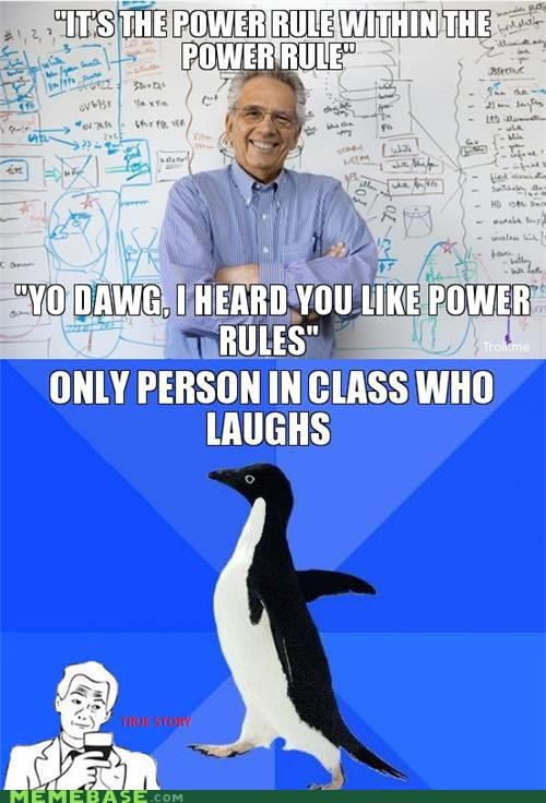Awkward class power rules school socially awkward penguin teachers yo dawg - 5323800832
