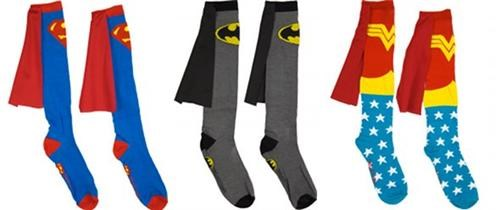 batman capes DC merch socks superheroes superman wonder woman - 5323859712