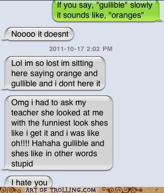 gullible oranges text message - 5323900928