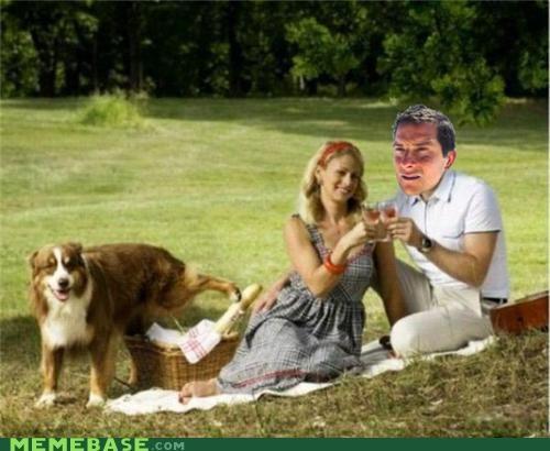 basket bear grylls best friend dogs man pee picnic wine - 5323909376