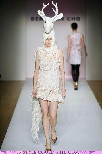 benjamin cho catwalk cool accessories deer runway - 5324196352