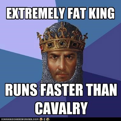 age of empires cavalry extreme fast fat king running video games