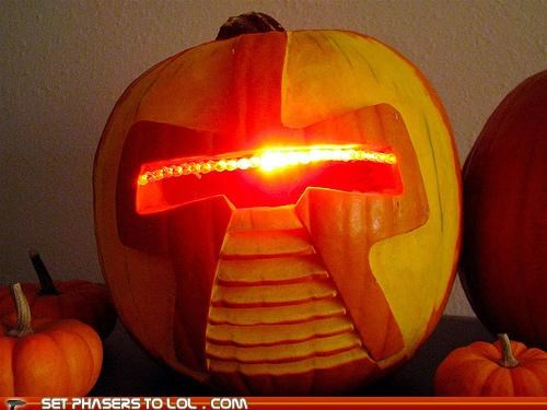 Battlestar Galactica cylon Death Star halloween Predator predators pumpkins star wars - 5324253440