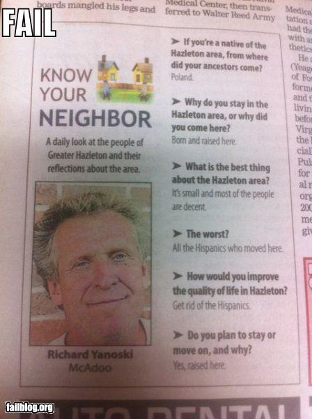 failboat g rated neighbor Probably bad News racist - 5324274944