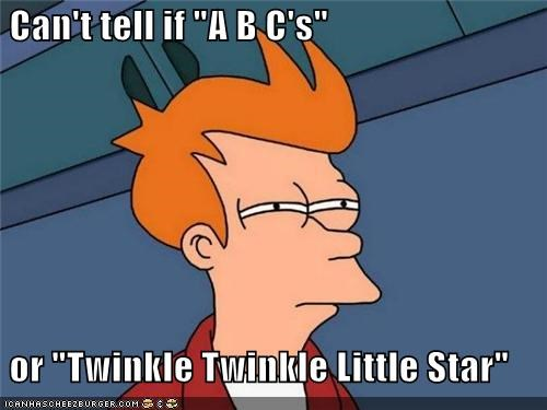 abcs,fry,little star,twinkle twinkle,what you are,wonder