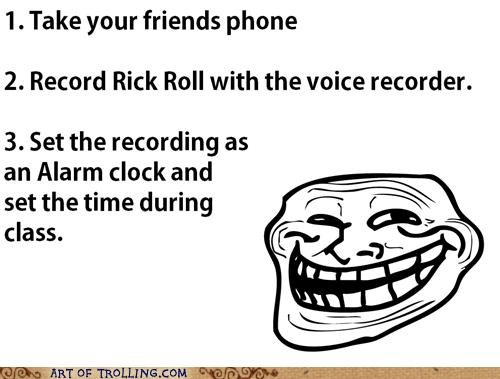 alarm,phone,rick roll