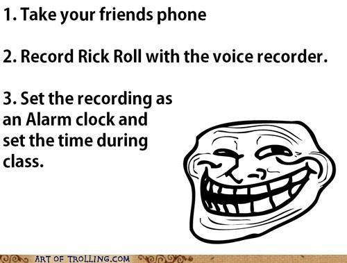 alarm,phone,rick roll