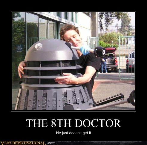 8th doctor,dalek,doctor who,hilarious