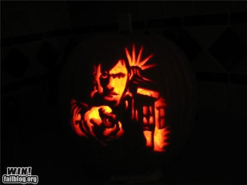 art,carving,Hall of Fame,halloween,holiday,nerdgasm,pop culture,pumpkins,sculpture,video games