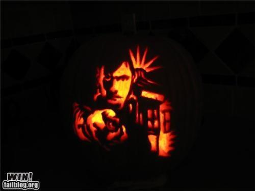 art carving Hall of Fame halloween holiday nerdgasm pop culture pumpkins sculpture video games - 5324595200