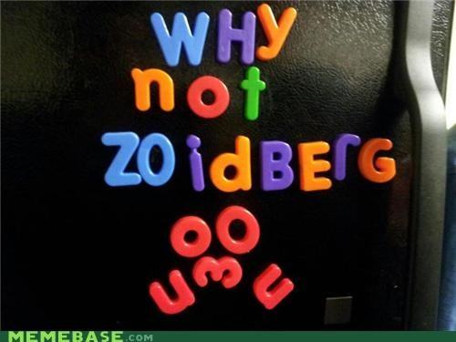 emoticon fridge magnets spell Zoidberg - 5324814336
