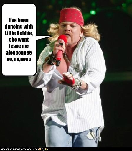 axl rose,fat,gross,guns n roses,little debbie,singing,Songs