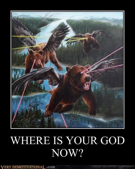 art,bears,eye lasers,flying,Terrifying,wtf