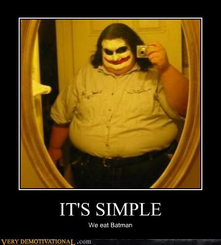 batman,costume,eat,good idea,joker,Super-Lols