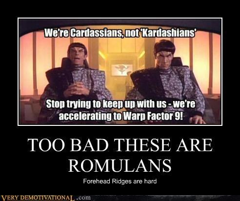 cardassian,idiots,romulans,Star Trek