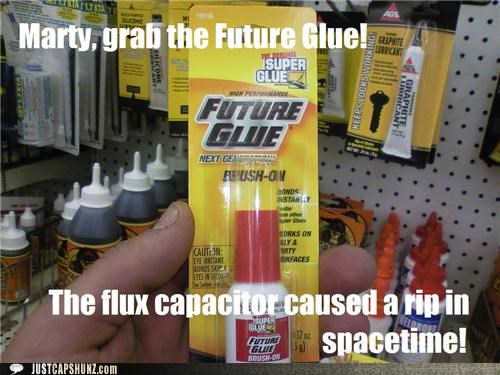 back to the future,back to the future reference,future glue,glue,space time,super glue