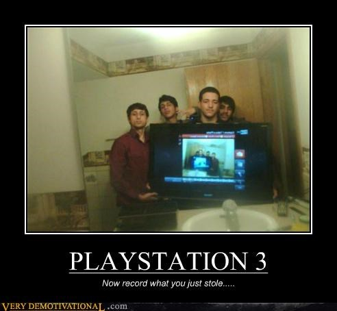 hilarious playstation 3 record stolen