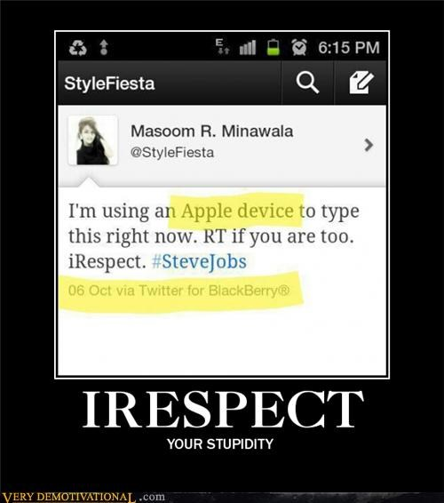 apple blackberry idiots respect wtf - 5325999360