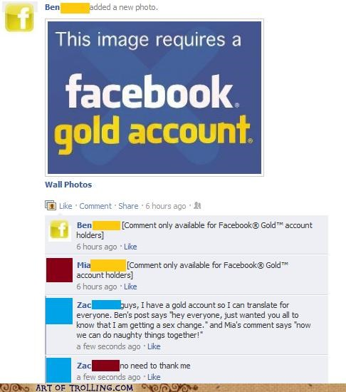 facebook,facebook gold,gold account,translate