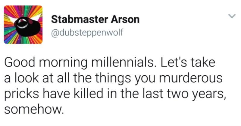millennials killing things
