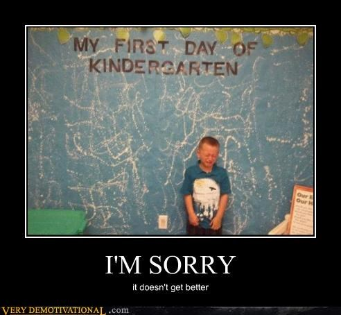 kids,kindergarten,Sad,school,sorry