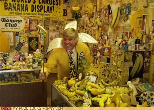 bananas collector crazy man yellow