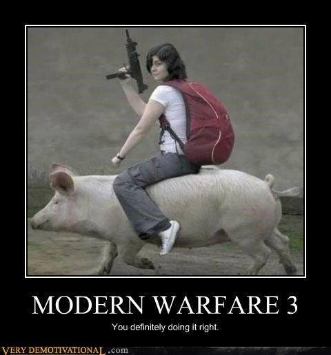 Modern Warfare 3,pig,Pure Awesome,uzi,wtf