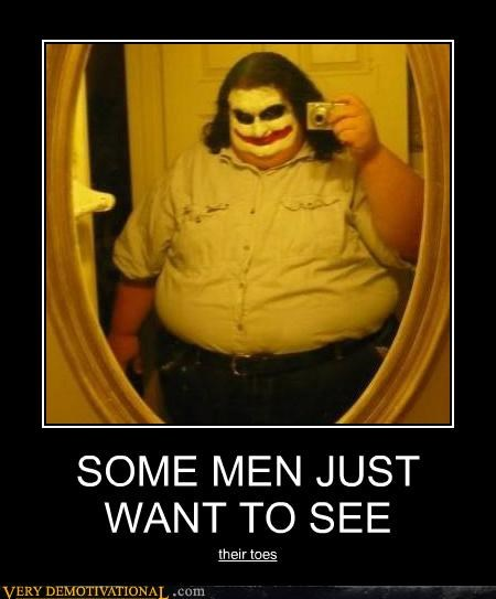 fat jokes hilarious joker men toes - 5326759424