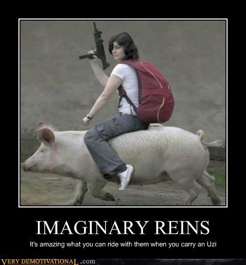guns hilarious invisible pig reins - 5326953728