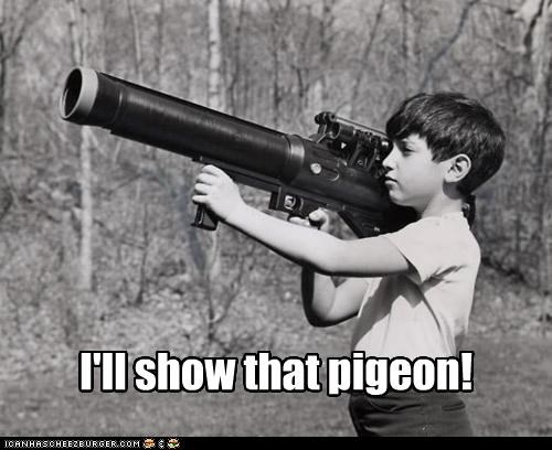 aiming,bird,gun,historic lols,ill-show-you,pigeon,potato gun,vintage