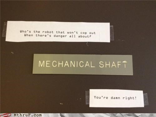 70s engineering funky pun shaft sign - 5327166976