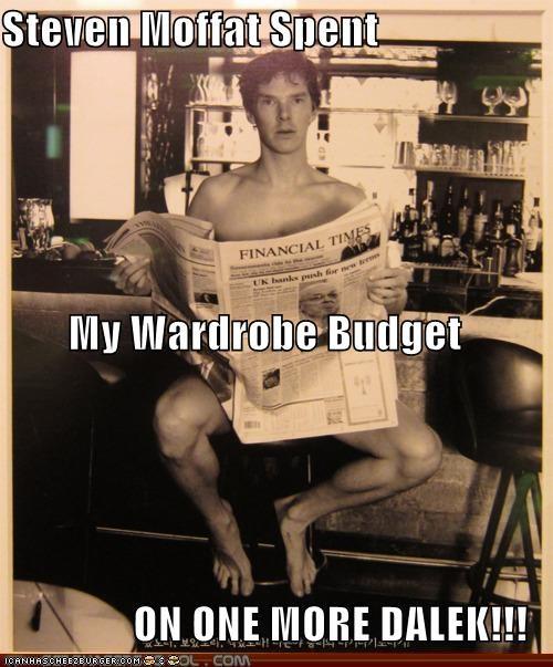 bennedict cumberbatch budget dalek sherlock bbc Steven Moffat wardrobe - 5327248384