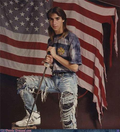 mullet,patriotism,redneck,sword
