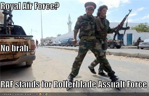 political pictures rollerblades royal air force soldiers - 5327330816
