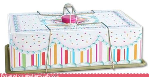 box cake carrier cupcakes handle metal - 5327412224