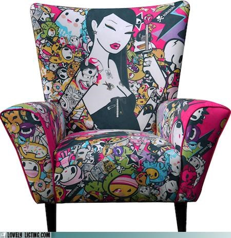 chair lady print tokidoki - 5327415552
