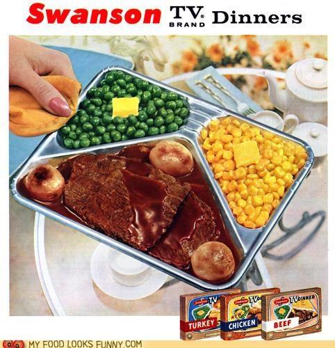Ad butter meat swanson TV dinner veggies
