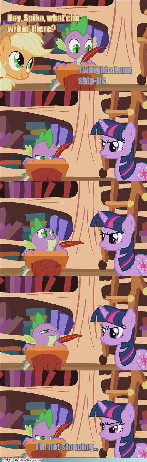 applejack best of week clopping comics luna ship-fic shipping spike twilight sparkle - 5327514112