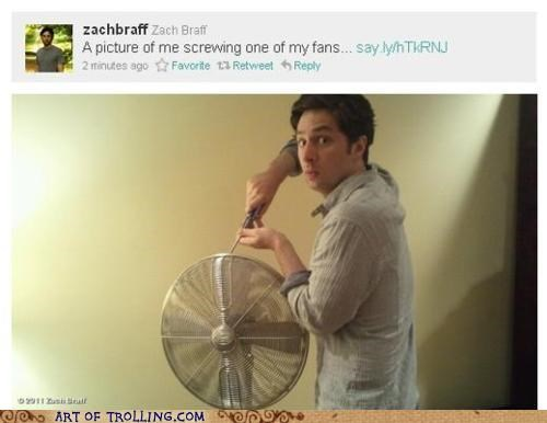 fan,screwing,Zach Braff