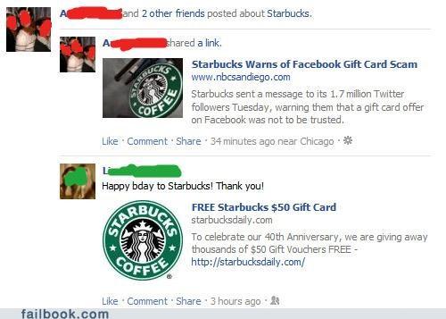 gift card rumors scam Starbucks - 5327789824