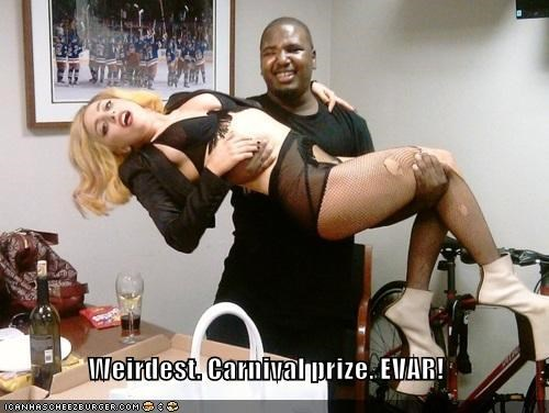 Carnival,carnival prize,i won,lady gaga,musician,roflrazzi,singer,winner winner chicken dinner